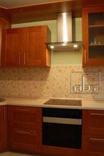 Кухня по поръчка с класически изчистен дизайн 213-2616