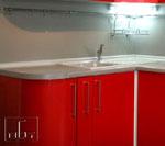 Кухня по поръчка в червен цвят 217-2616