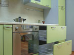 Проект на кухня в зелено цвят 235-2616