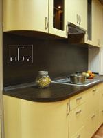 Кухня в цвят шампанско - индивидуален проект 236-2616