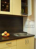Двуцветна кухня по поръчка, с кръгла мивка 237-2616