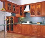 Уютен проект за кухня в светло кафяво 241-2616