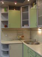 Проект на кухня в свеж зелен цвят 253-2616