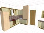 Изпълнение на триизмерни проекти за кухни по поръчка 285-2616