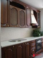 Кухня от масив Тъмен лешник 348-2616