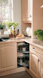 Поръчкова кухня от светло дърво 371-2616