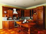 Кафяв проект за кухня по поръчка 385-2616