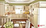 Кухня по поръчка - зелено и слонова кост 388-2616