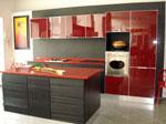 Индивидуален кухненски проект с акцент върху червеното 544-2616