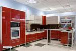 Червена кухня, изработена по поръчка546-2616