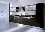 Стилна черна кухня по поръчка 549-2616