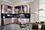 Кухня по поръчка в бежов металик 550-2616
