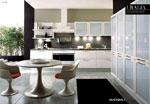 Поръчкова кухня, изработена от PVC и стъкло - мат 570-2616