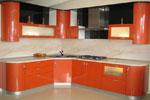 Кухня по поръчка - съчетание на овални и ъглови форми 571-2616