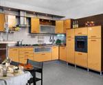 Поръчкова кухня от светъл и тъмен МДФ 574-2616