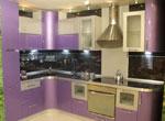 Кухня по поръчка в нежно лилаво 595-2616
