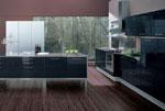 Кухня в черен цвят - поръчка 607-2616
