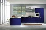 Стилен кухненски проект в турско синьо 613-2616
