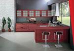 Нестандартен проект за кухня с бар 620-2616