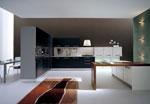 Кухня по проект - зелена, L - образна 629-2616
