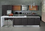 Проект на кухня в сиво, бяло и кафяво 656-2616