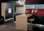 Проект на кухня Червено и черно 659-2616