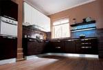 Изпълнение на кухня по проект Бяло и черно 663-2616
