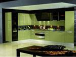 Кухня в зелено по поръчка 666-2616