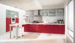 Поръчкова кухня Червено и бяло 667-2616