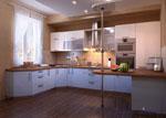 П - образна кухня по проект с плот 681-2616