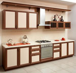 Изпълнение на ретро дизайни за кухни по поръчка 722-2616