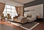 Проект за спалня с тапицираната табла и нощни шкафчета и добавена секция към конструкцията 117-2618