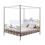 изработване на легло от ковано желязо с балдахин
