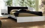 Легло с нощни шкафчета, прикачени към таблата, без крачета 236-2618