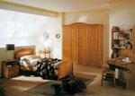 Единично легло по поръчка от дърво в карамелен цвят 241-2618