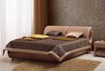 Спалня по поръчка със семпло нощно шкафче в цвят пепел от рози 247-2618