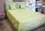 Поръчкова спалня в свежи цветове - жълто и зелено 257-2618
