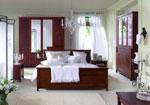 Поръчки на спални от тъмно ПДЧ с параван