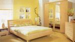 Спалня по поръчка в млечно жълто