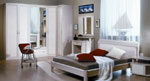 Сива спалня по поръчка с ПВЦ табла