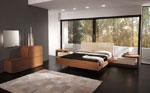 Поръчкова спалня в светло кафяво с двойно нощно шкафче