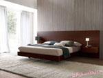 Поръчкова спалня в светло шоколадово с голяма табла