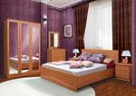 Поръчкова спалня в тъмно лилаво 429-2618