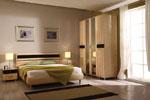 Поръчкова спалня от светло лакирано дърво 439-2618