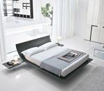Спалня по поръчка от алуминий с излята от основата на леглото табла
