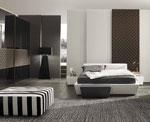 Трапецовидна спалня по поръчка в бял цвят