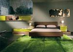 Спалня по поръчка в бежово със зелени спални мебели