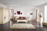 Масивна спалня по поръчка Традиция /бяла с гардероб/