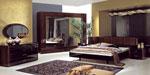Бутиков дизайн за спални по поръчка - съчетание на тъмно дърво и черни линии