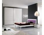 Спалня по поръчка в бяло и сиво 59-2618